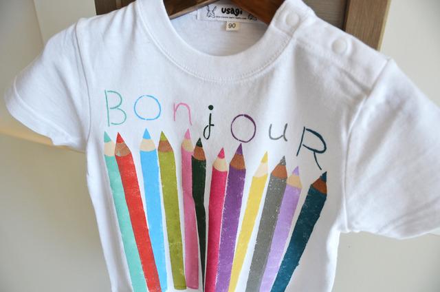 子供用Tシャツ【色えんぴつ】 ホワイト