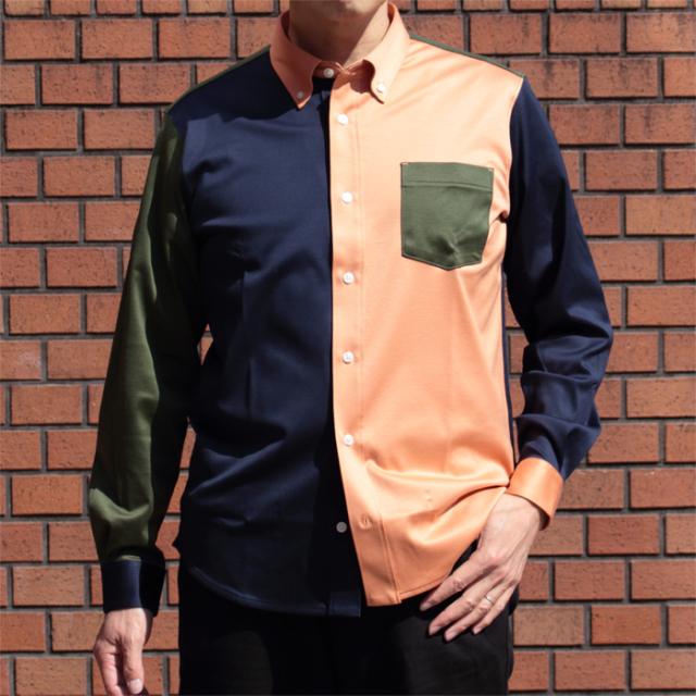 メンズ 88/2スムース 長袖ニットシャツ