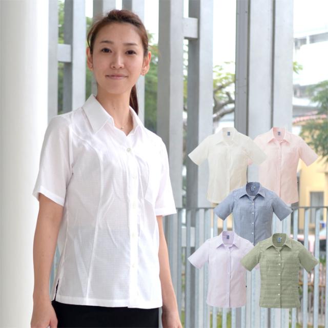 かりゆしウェア 沖縄産アロハシャツ レディース 沖縄物語 トゥイグヮー柄 スキッパー