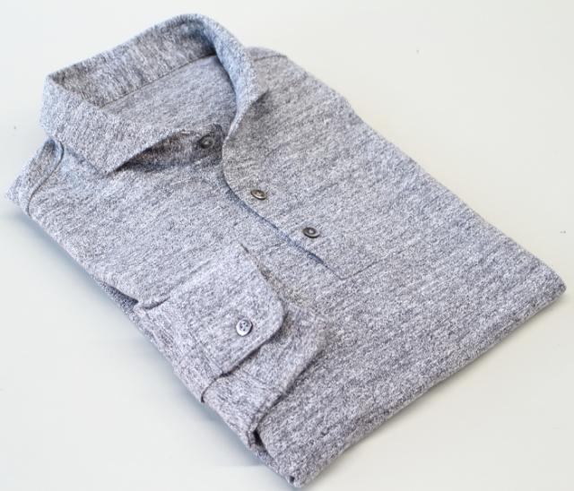 【受注生産】メンズ 長袖吊り編み天竺シャツ(日本製)