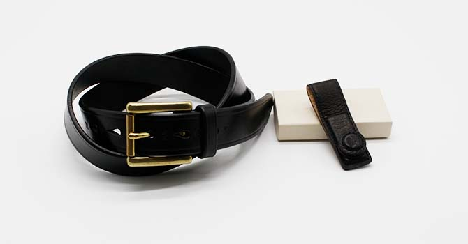 Anniversary GIFT SET A(MERCER ITALIAN VEGETABLE TANNED OILED LEATHER BELT)(XMC-1080a)