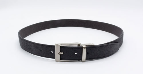SHRUNKEN LEATHER ELASTIC BELT(KMK-0112L)