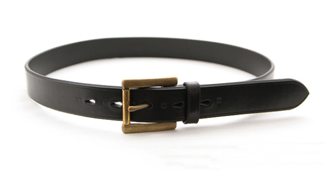 MERCER ITALIAN VEGETABLE TANNED OILED LEATHER BELT