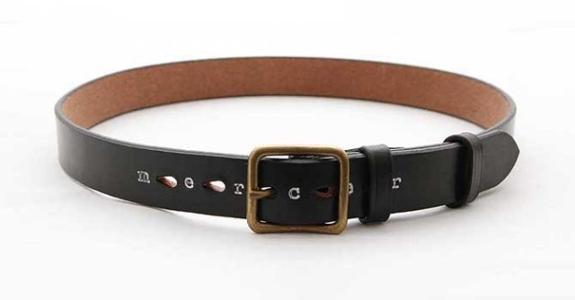 MERCER UK SADDLE LEATHER BELT