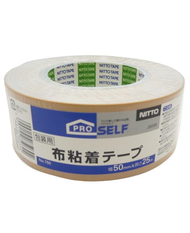 ニトムズ 布粘着テープ 茶 50mm×25m ケース30巻入り(お取り寄せ品)
