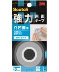 3M 強力両面テープ 凹凸面用 (KH−12) 12×1.5m 小袋20巻入り