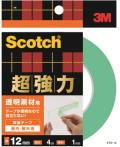 3M 超強力両面テープ 透明素材用 (STD−12) 12×4m