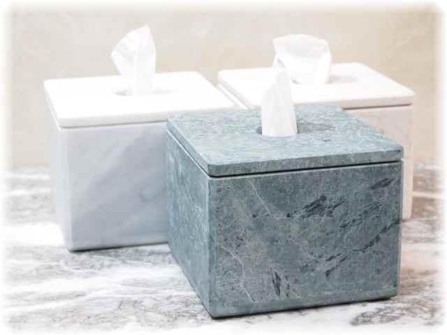 天然石インテリア雑貨ティシュケース(台湾産大理石ジャモン)