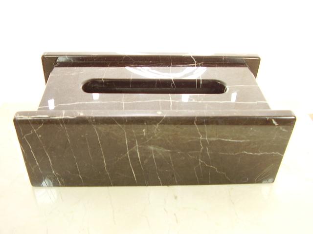 天然大理石 ティッシュボックス2007 (クラフテイブラウン)
