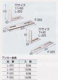 石材補強用ステンレス金具(L型&フラット平型)
