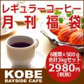 【8月】レギュラーコーヒー月刊福袋500g×6種類