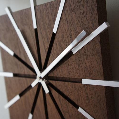 Line clock 木製時計