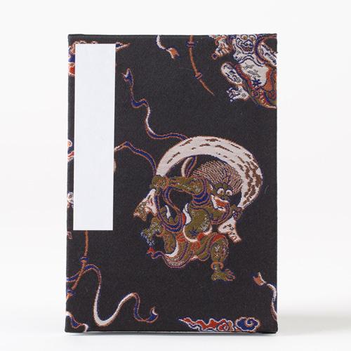 【御朱印帳】大判12x18cm蛇腹式/風神雷神(黒orキナリ)