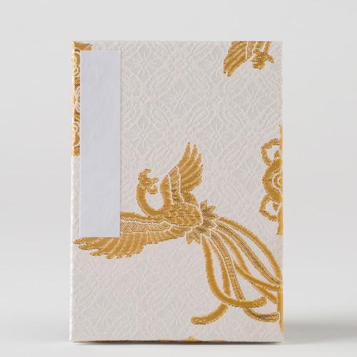 【御朱印帳】蛇腹鳳凰の舞/白