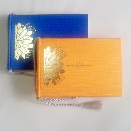 【お得な2冊セット】結婚式芳名帳 ゲストブック(サニーオレンジ/青)