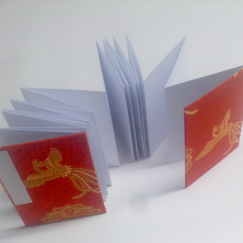 【御朱印帳】蛇腹鳳凰の舞/真紅