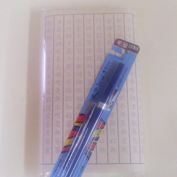 写経セット(高級筆ペン付き/なぞり書き/土佐和紙50枚/般若心経)