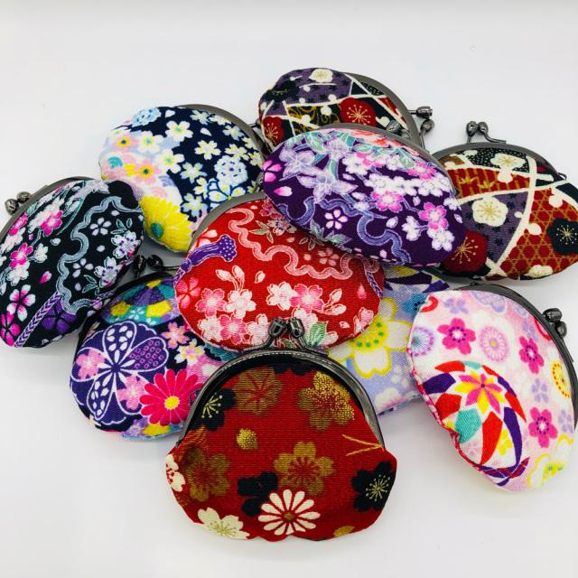 【お賽銭用小銭入れ】がま口 参拝 和心友禅 蒔絵調 2.5丸小銭入れ 安心の日本製