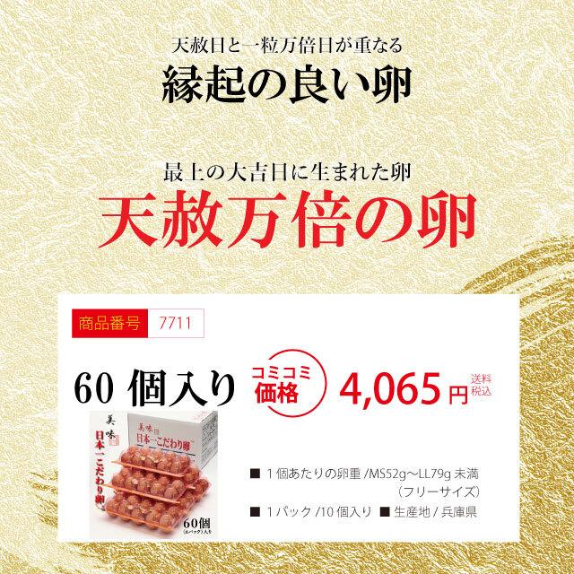 「天赦万倍の卵」60個(6パック)【予約限定商品】