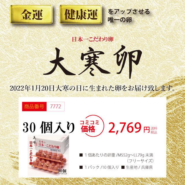 「大寒たまご」30個(3パック)【予約限定商品】