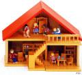 家具付人形の家(組み立て式) はしご+家具18点付