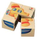 六面体パズル・4pcs・のりもの