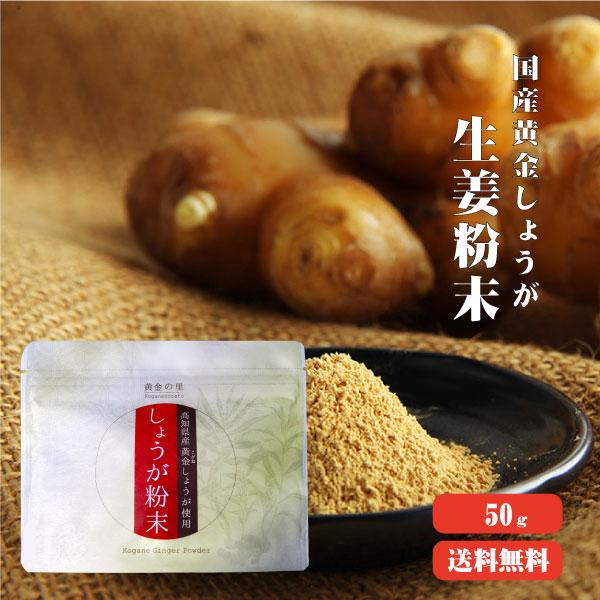 【ゆうパケット送料無料】 高知県産黄金しょうが粉末 50g   蒸ししょうが 生姜粉末 生姜パウダー スーパー生姜