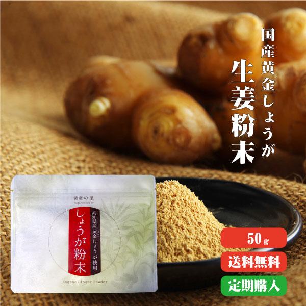 定期購入【ゆうパケット送料無料】高知県産黄金 しょうが粉末 50g