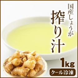 【冷凍便】国産冷凍生姜汁 1Kg 【※冷凍品以外との同梱不可】【業務用】
