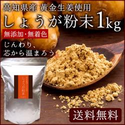 【送料無料】高知県産 黄金しょうが粉末 1kg