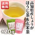★セール★【メール便送料無料】生姜ほうじ茶 20g&生姜玄米茶 20g セット