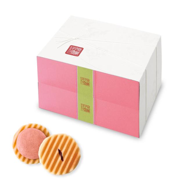 姫千寿せんべい二段箱(さくら12枚入×2箱)