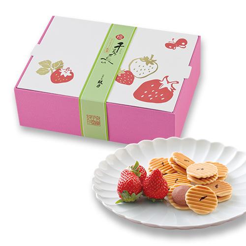 姫千寿せんべいストロベリー紅茶