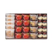 鼓月 秋の銘菓撰詰合せ(千寿せんべい5枚、紅りんご8個、つづみ栗4個、栗尽8個)