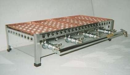 銅製たこ焼き器4枚掛け用ガスコンロ
