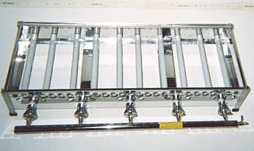 銅製たこ焼き器5枚掛け用ガスコンロ