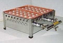 銅製たこ焼き器2枚掛け用ガスコンロ