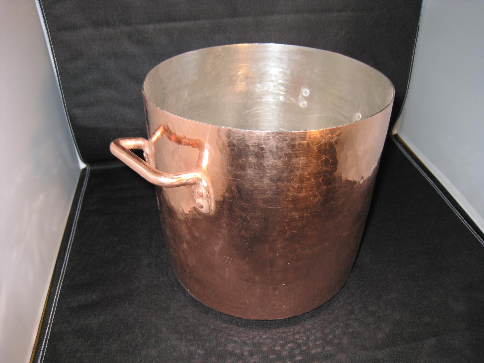 業務用銅製手打ち寸胴鍋21cm
