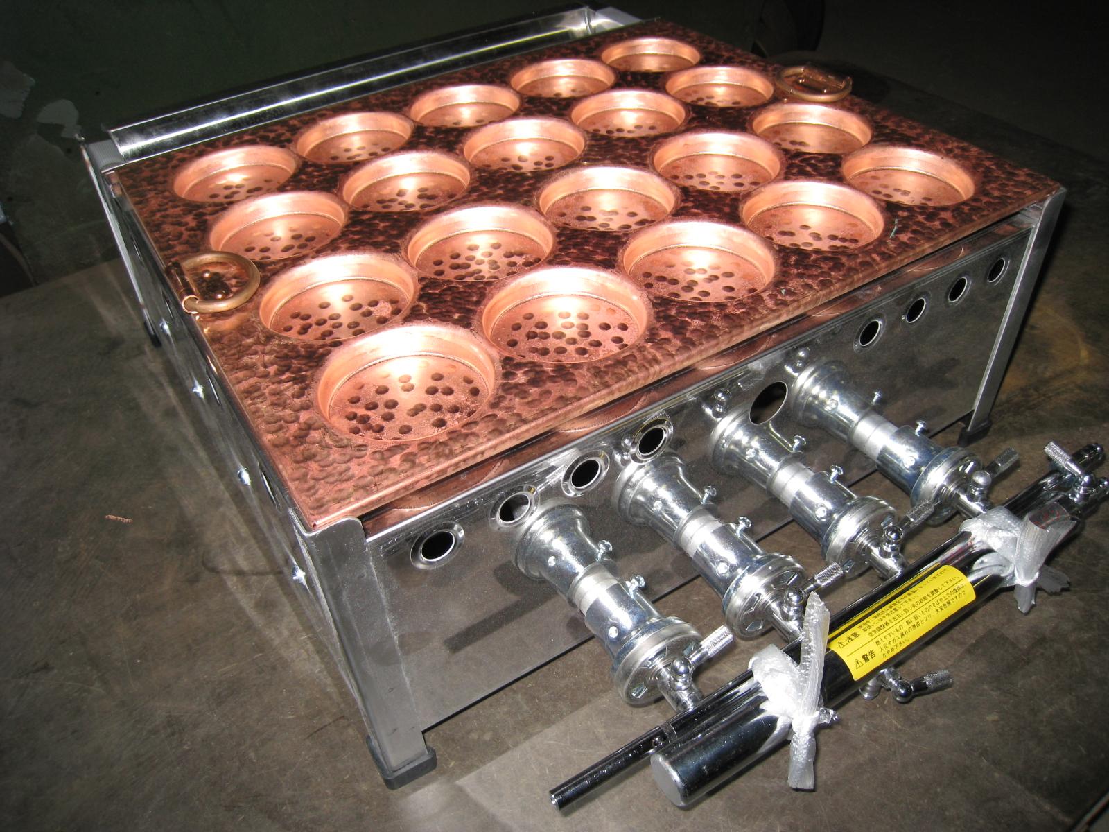 業務用銅製今川焼き器20穴(コンロ付き)