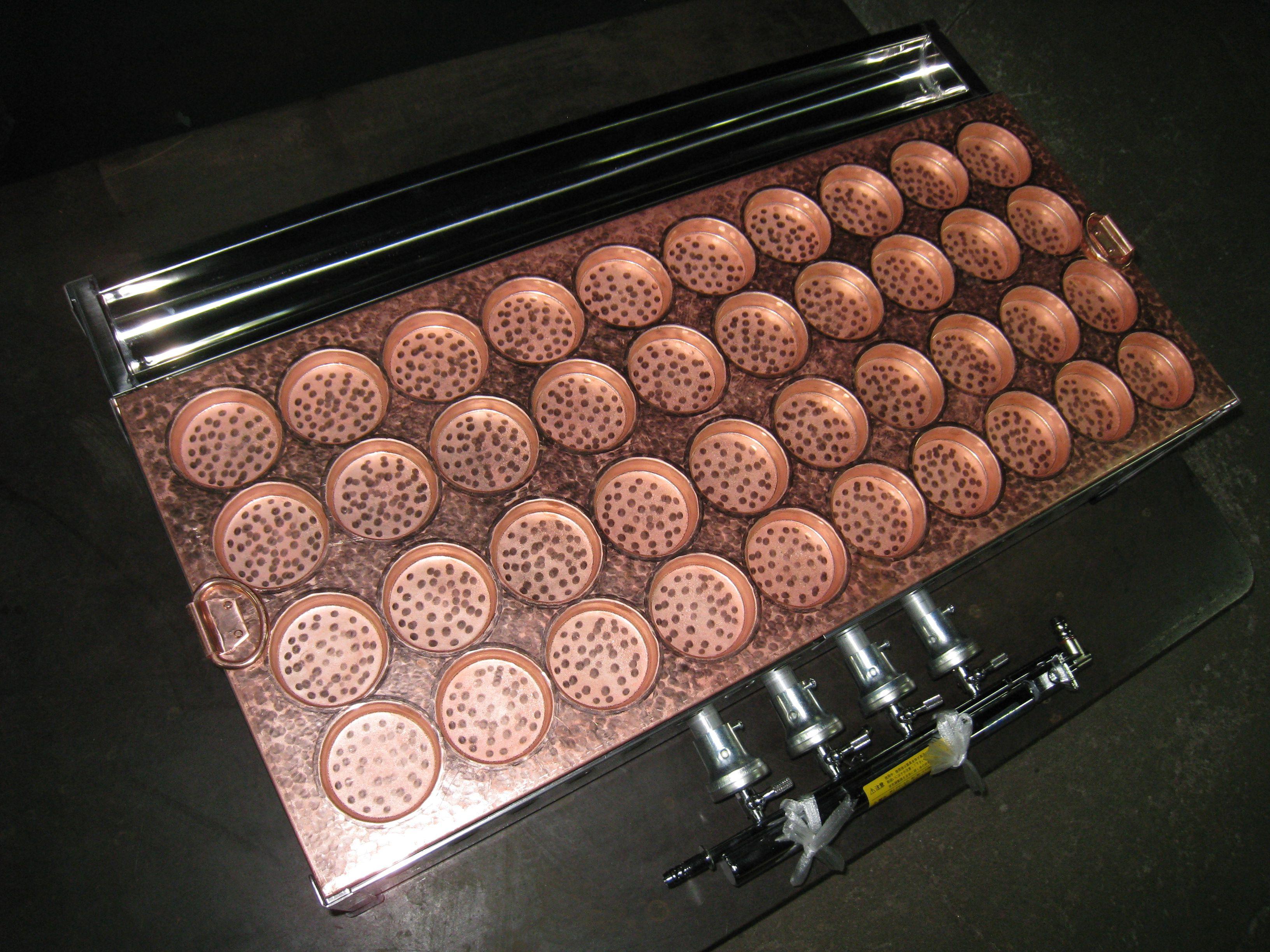 業務用銅製今川焼・回転焼き・大判焼き器40穴(コンロ付き)