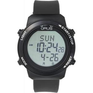 グルス 腕時計 認知症予防 歩幅計測 ウォーキングウォッチ ブラック