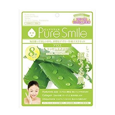 ピュアスマイル Pure Smile エッセンスマスク アロエ 8枚セット