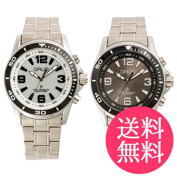 グルス ボイス電波ソーラー腕時計 全2種 GRS004 送料無料