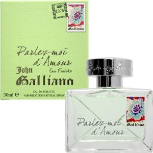 【送料無料】 ジョンガリアーノ JOHN GALLIANO 香水 パルレモアダムール オーフレッシュ オードトワレ スプレー EDT SP 30ml