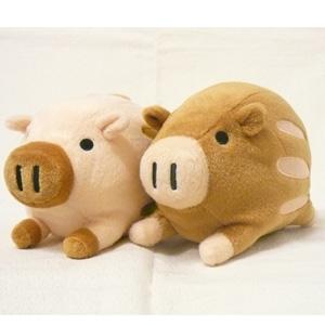 ウリ坊ブラザーズ 茶色 ぬいぐるみ いのしし イノシシ うり坊 猪