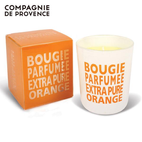 カンパニードプロバンス グラスキャンドル オレンジ 140g