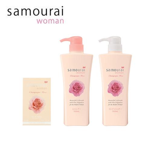 サムライウーマン samourai woman シャンパンローズ 香水+シャンプー+コンディショナーセット