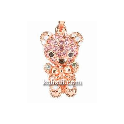 テディベア ペンダント&ストラップ Teddy-05PK 赤ちゃん ピンク