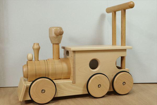 【送料無料】汽車ポッポ(木輪) 日本製木のおもちゃ のりもの ぶなの木 プレゼント