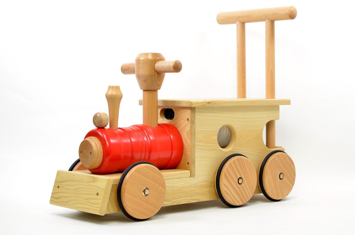 汽車ポッポ 赤(木輪)